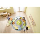 Emotion Faces Seating Cushions and Carpet Set by HABA