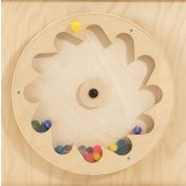 Gear Wheel w/ Rubber Balls Sensory Wall Activity Panel by HABA, 120393