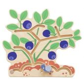 Blueberry Bush Interactive Wooden Play Wall Decoration by HABA, 149839