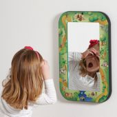 Animal Families Children's Safety Wall Mirror