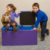 Toy Box Double-Seat Chest by Playscapes