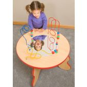 Wavy Legs Beads & Mirror Waiting Area Activity Table by Playscapes