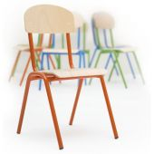 Stackable Metal Frame Chairs by NOVUM