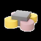 Pastel Pac Man Seating Set by NOVUM, 4641193