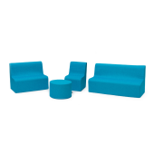 Blue Sunny Sofas & Table in Fabric by NOVUM, 4641323 - 4641327