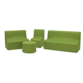 Green Sunny Sofas & Table in Fabric by NOVUM, 4641328 - 4641332