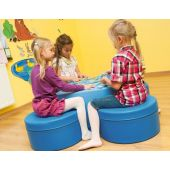 Blue Four Seats & Table Soft Seating Set by NOVUM
