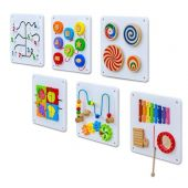 Set of 6 Wooden Sensory Panels by NOVUM, 6306660