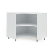 Universal Room Divider Corner Shelves by NOVUM, 6512486 & 6512487
