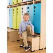 Movable Seat for 2, 4 or 6 Cubby Cloakrooms by NOVUM, 6512540EX - 6512542EX