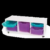 Mobile Storage Cabinet - Low 3 Column by NOVUM