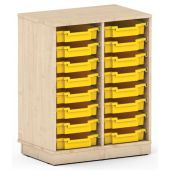 Premium Classroom Cabinet - Medium 2-Column by NOVUM