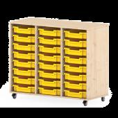 Premium Classroom Cabinet- Medium 3 Column on Wheels by NOVUM