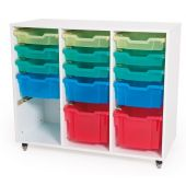 Mobile Storage Cabinet - Medium 3 Column by NOVUM