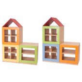 House Partitions / 2 Story House, Unit A & B Partition by NOVUM, 6521108 & 6521109
