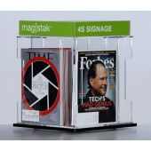 3branch magstak™ Magazine Counter Display w/4-Sided Sign
