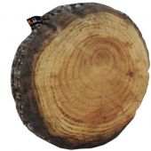 "WoodmeNaturescape Annual Rings Log Slice Cushion, 23 1/2"", MW210*"