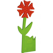 Red Flower, Wooden Playwall Decoration by HABA,121000