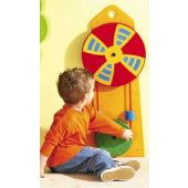 Child Playing With Windmill Wheels
