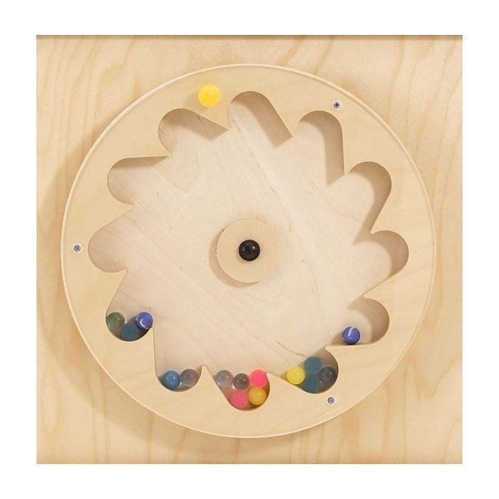 Gear Wheel w/ Rubber Balls Sensory Wall Activity Panel by HABA, 120393