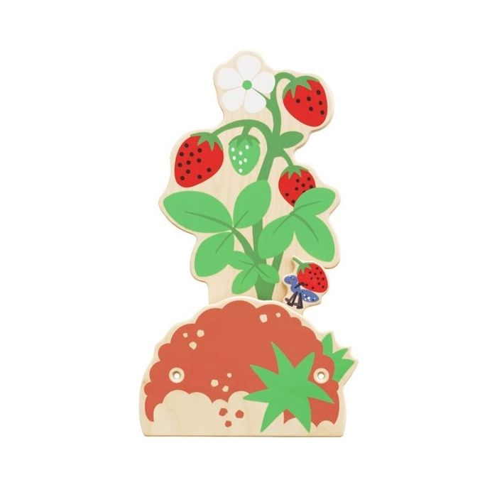 Strawberry Bush Interactive Wooden Play Wall Decoration by HABA, 149867
