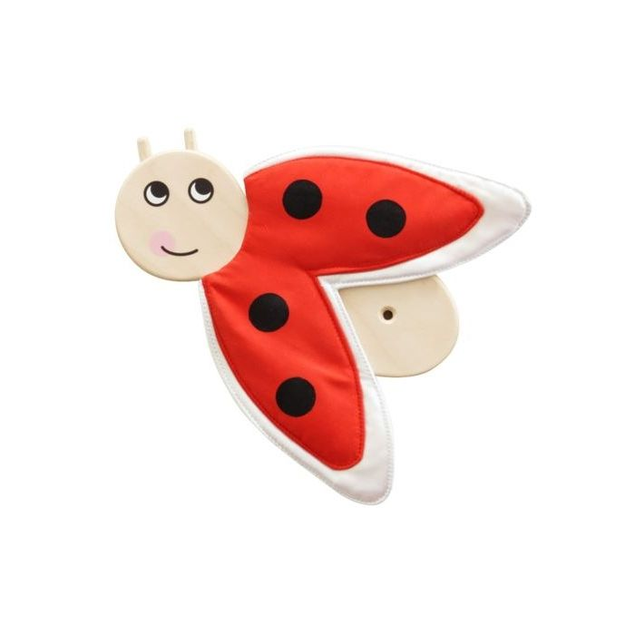 Good Luck Ladybug Wooden Play Wall Decoration by HABA, 157751