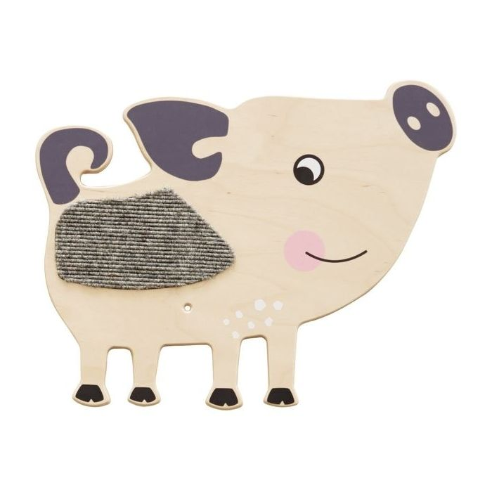 Pig Sensory Wooden Play Wall Decoration by HABA, 157754