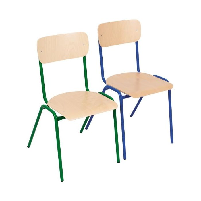 Tall Stackable Metal Frame Chairs by NOVUM