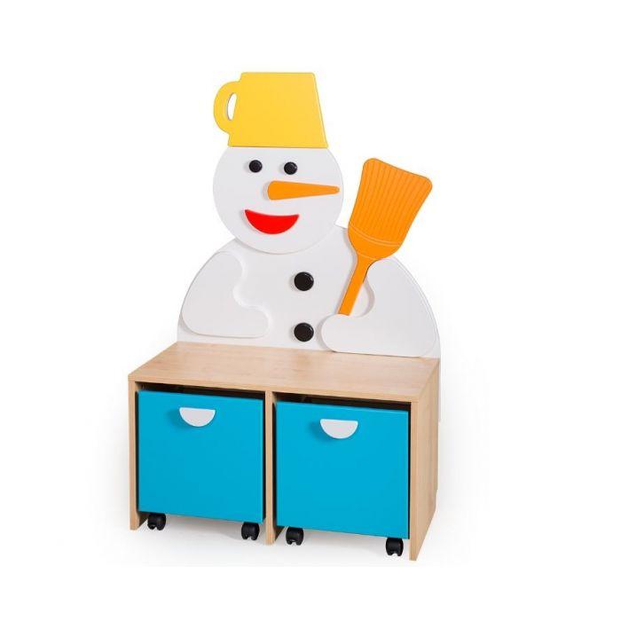 Four Seasons Snowman Cabinet by NOVUM