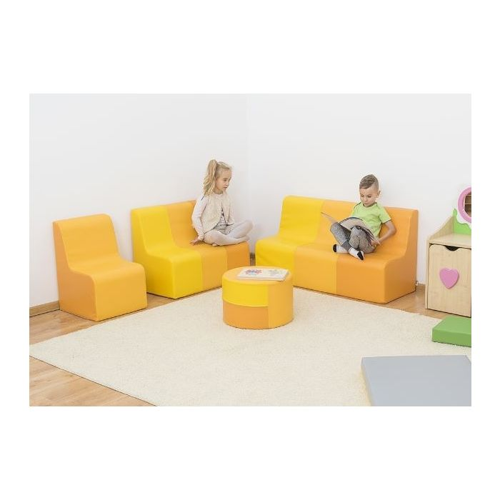 Yellow Sunny Sofas & Table by NOVUM
