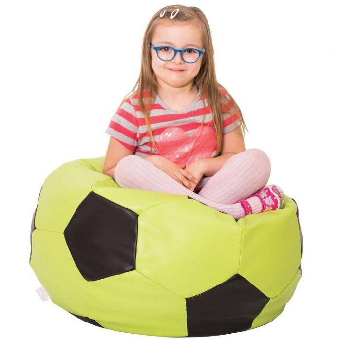 Lime Green Soccer Bean Bag