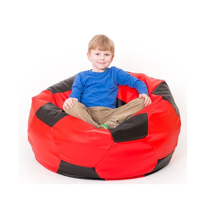 Red Soccer Bean Bag