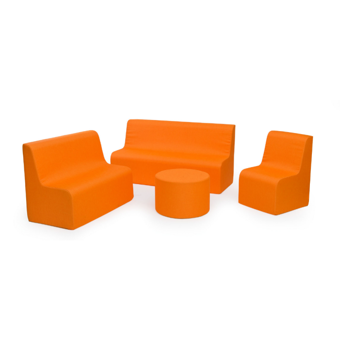 Orange Sunny Sofas & Table in Fabric by NOVUM, 4641318 - 4641322