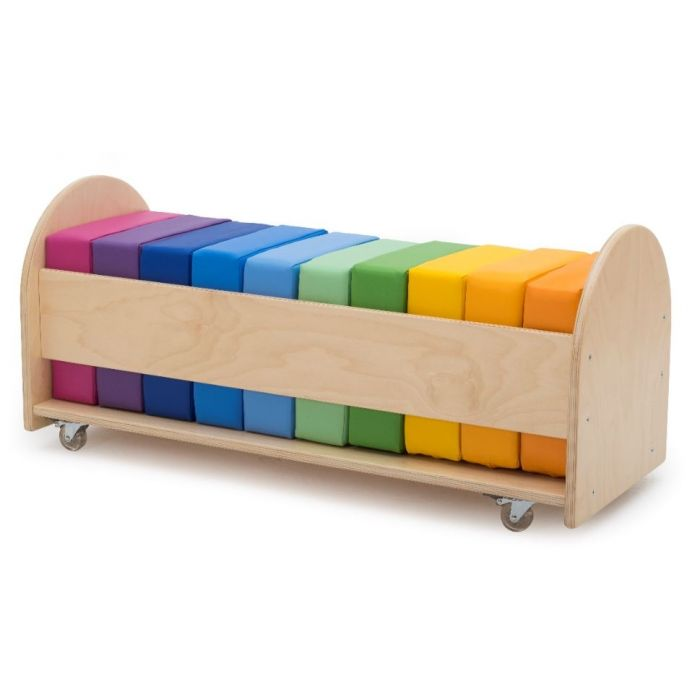 Rainbow Square Seat Cushion Set w/ Rolling Rack by NOVUM