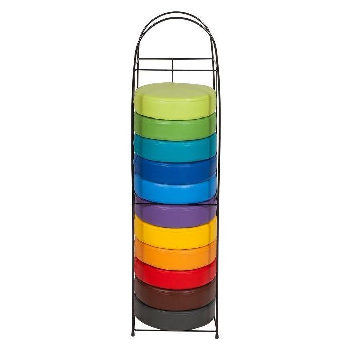 Round Rainbow Seat Cushion Set w/Storage Rack by NOVUM, 5000200