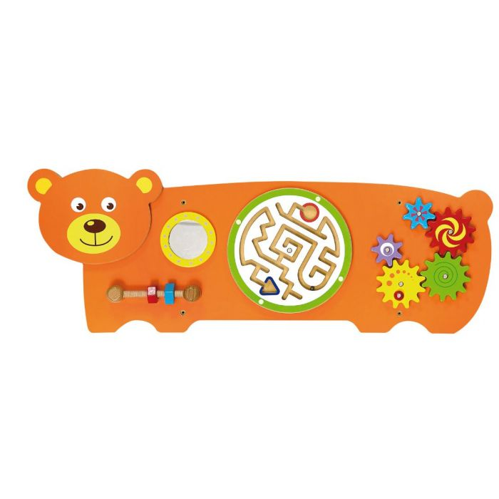 Bear 4-Activity Sensory Wall Panel by NOVUM, 6307190