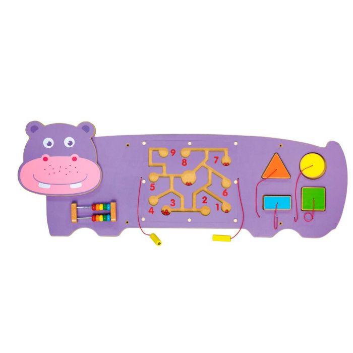 Hippo 3-Activity Sensory Wall Panel by NOVUM, 6307553