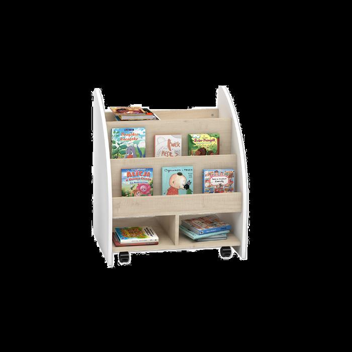Bookcase w/White Sides by NOVUM, 6512725
