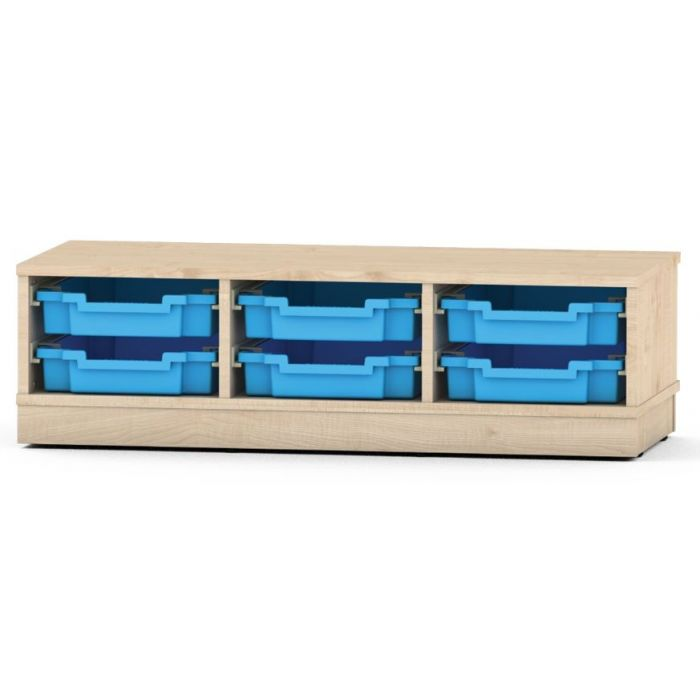 Premium Classroom Cabinet - Small 3-Column by NOVUM