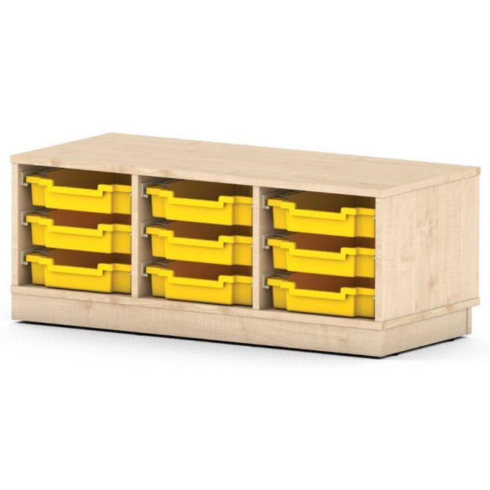 Premium Classroom Cabinet - Low 3-Column by NOVUM