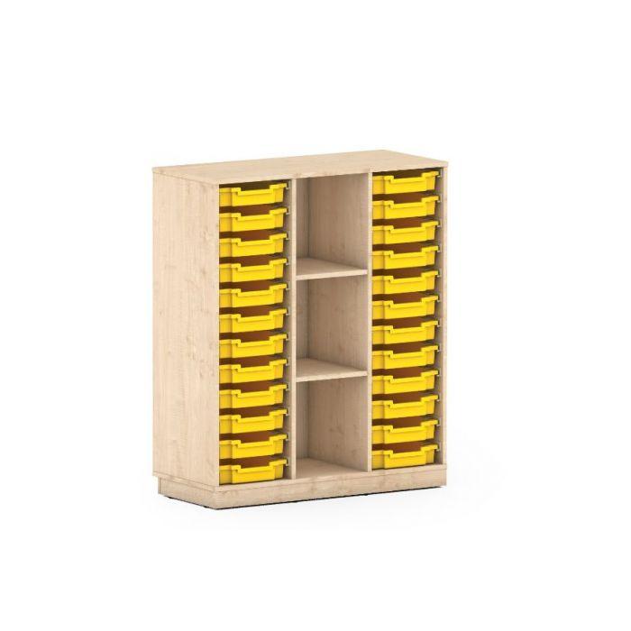 Premium Classroom Cabinet- High 3 Column Shelf by NOVUM