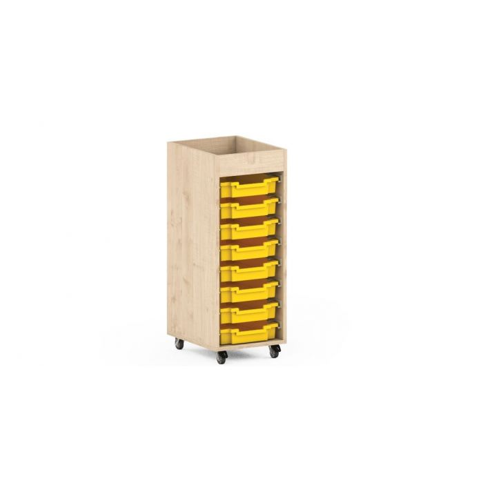 Premium Classroom Cabinets - Narrow on Wheels by NOVUM