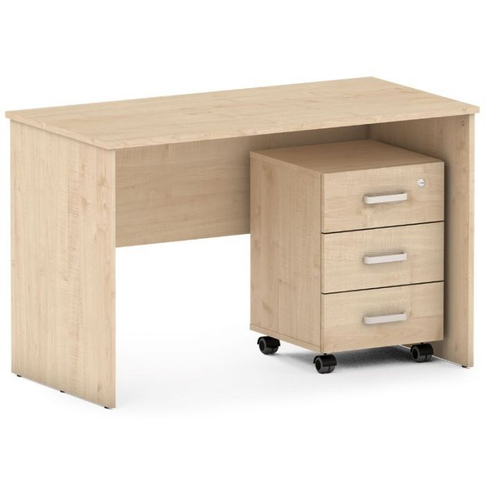 Maple Desk w/ Mobile Cabinet Set by NOVUM, 6521215