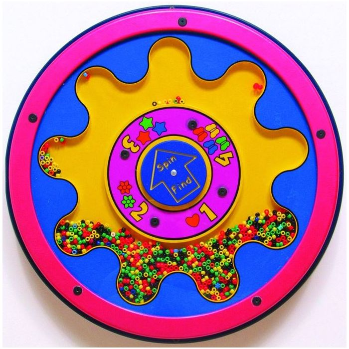 Math Beads Wall Activity Panel by Playscapes, AMH-RA0260W