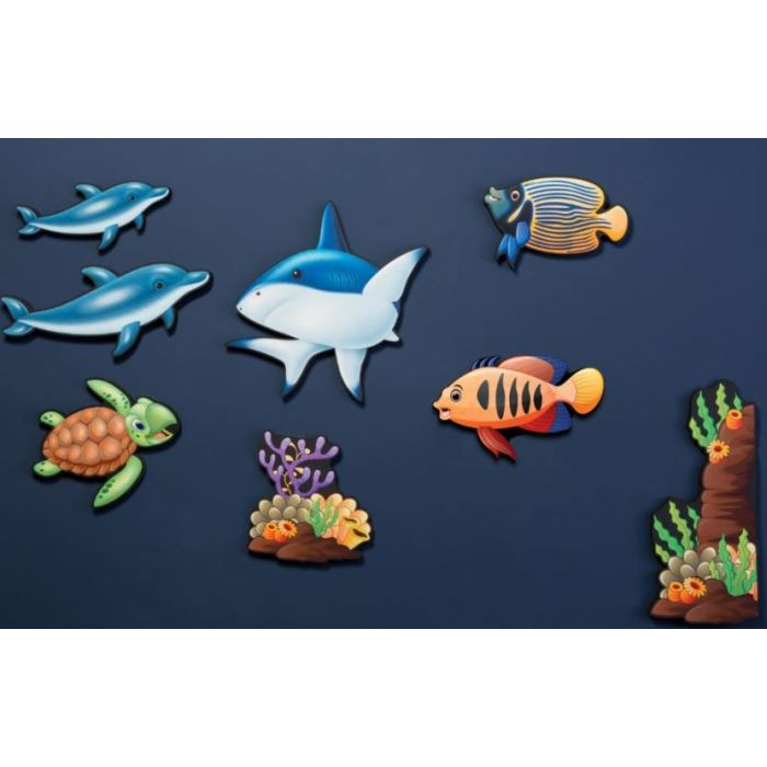 Sea Life Noise Absorption Panel Set by Playscapes, AU-GUSTH1