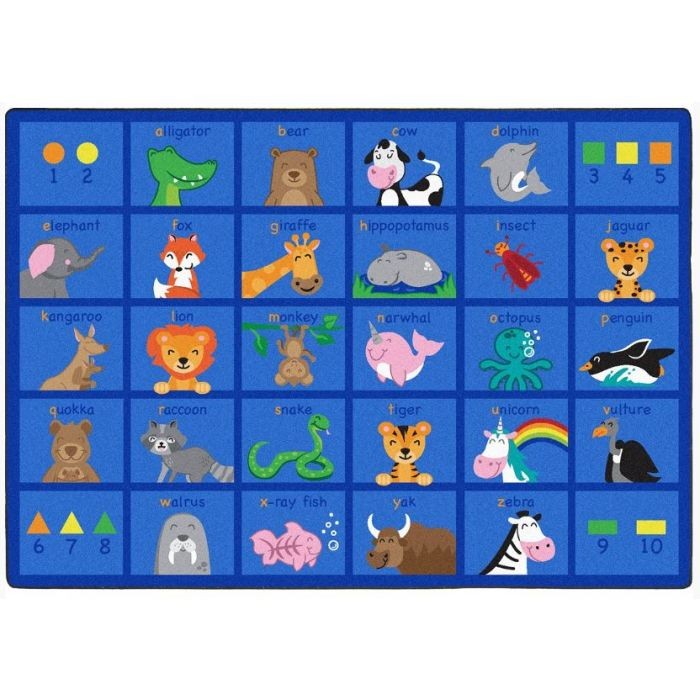 Friendly Phonics Animals Carpet by Playscapes, 30CRFPA*
