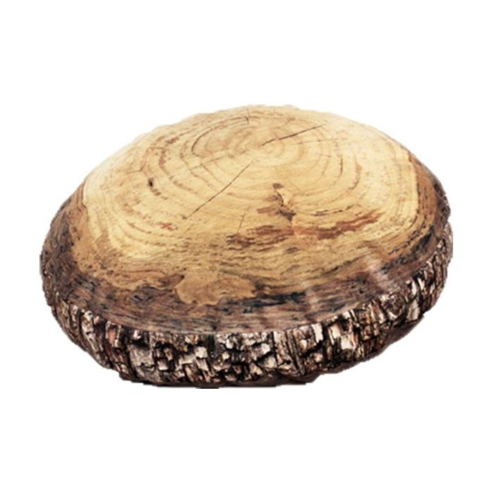 Woodmens Naturescape Annual Rings Log Slice Cushion, 15 3/4