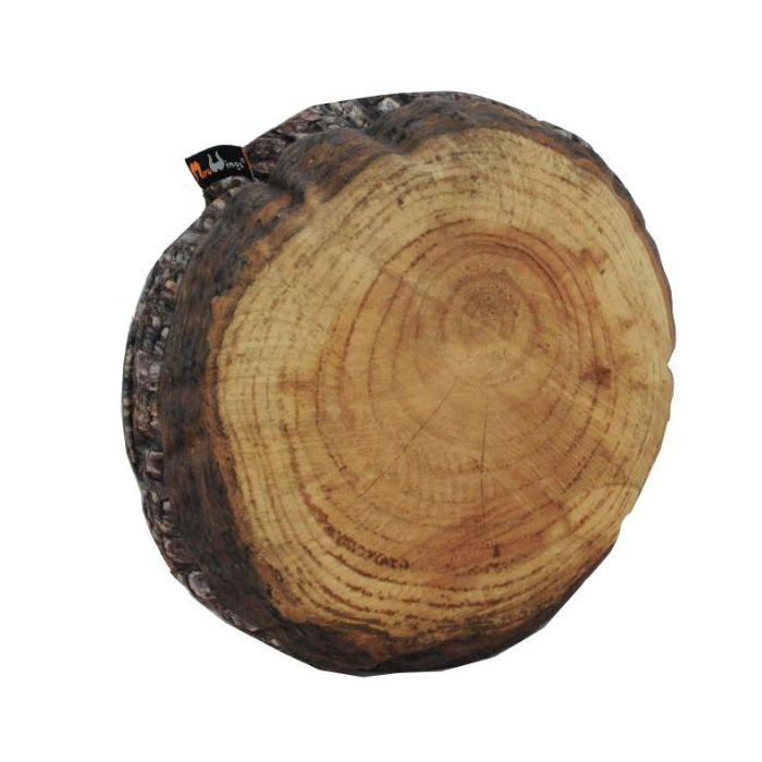 Woodmen Naturescape Annual Rings Log Slice Cushion, 23 1/2