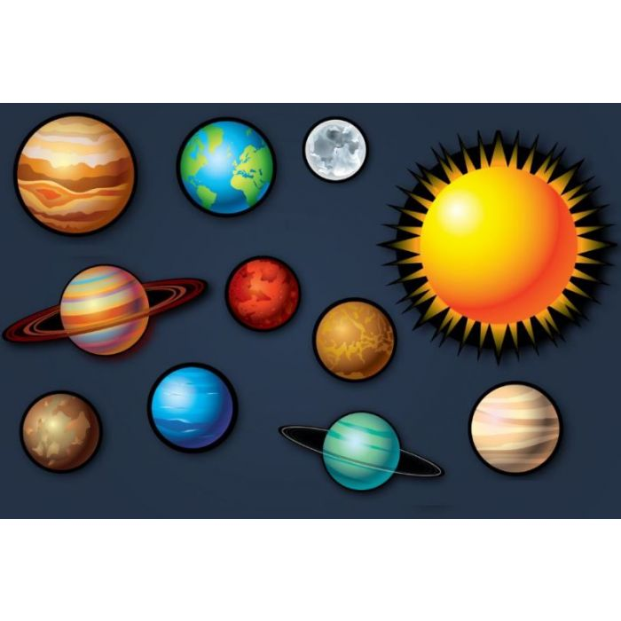 Solar System Noise Absorption Panel Set by Playscapes, AU-GPLTH1