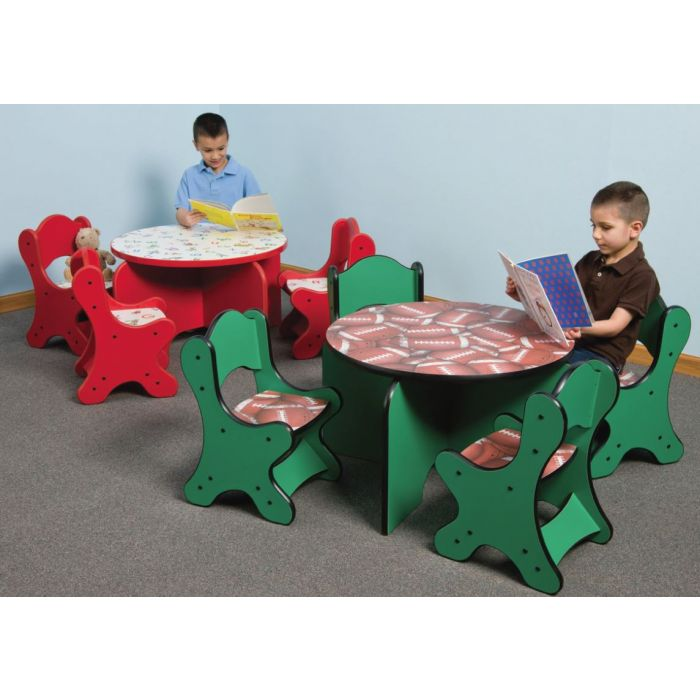 Just-My-Size Round Friends Design Toddler Table by Playscapes, 26-TBR*